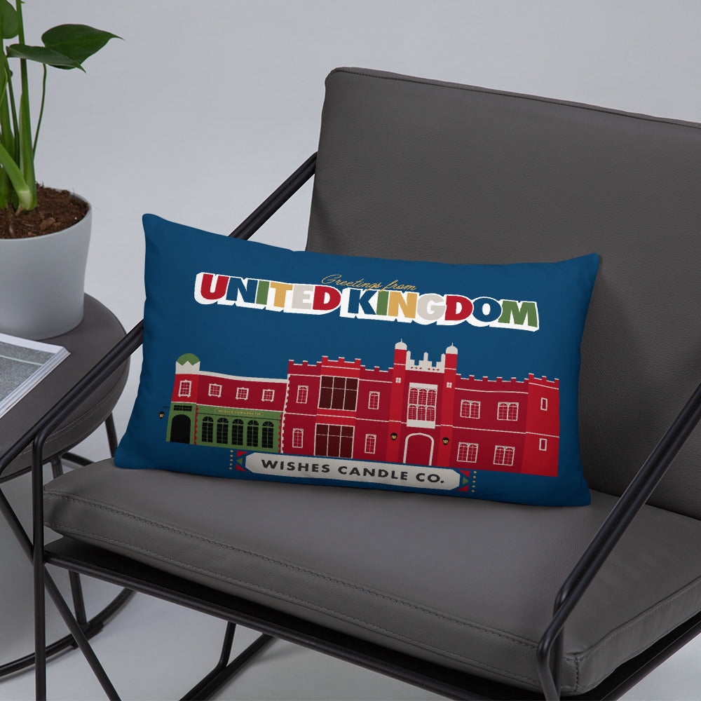 Greetings From - United Kingdom! Throw Pillow