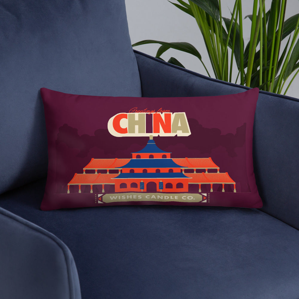 Greetings From - China! Throw Pillow