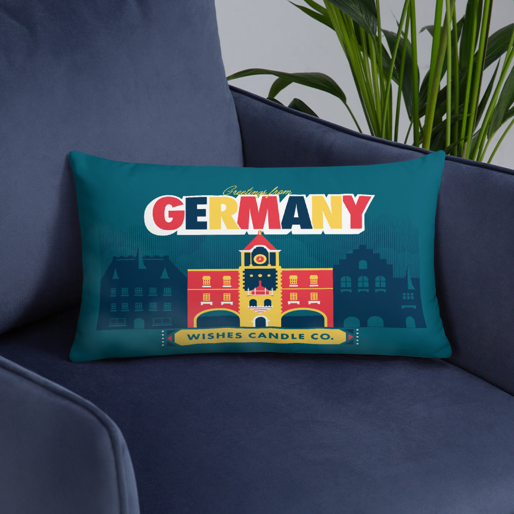 Greetings From - Germany! Throw Pillow