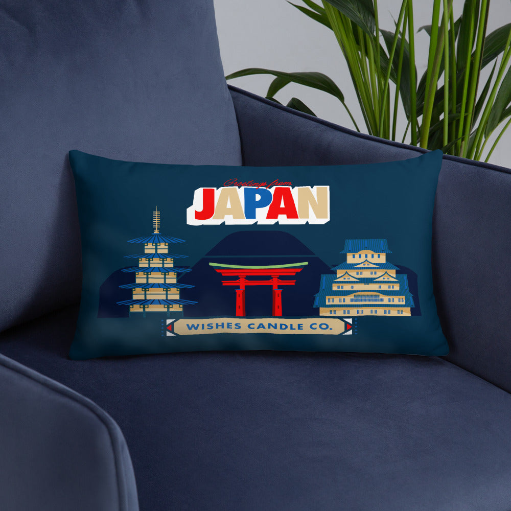 Greetings From - Japan! Throw Pillow