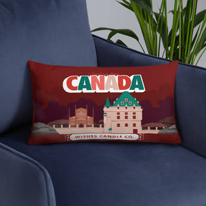 Greetings From - Canada! Throw pillow
