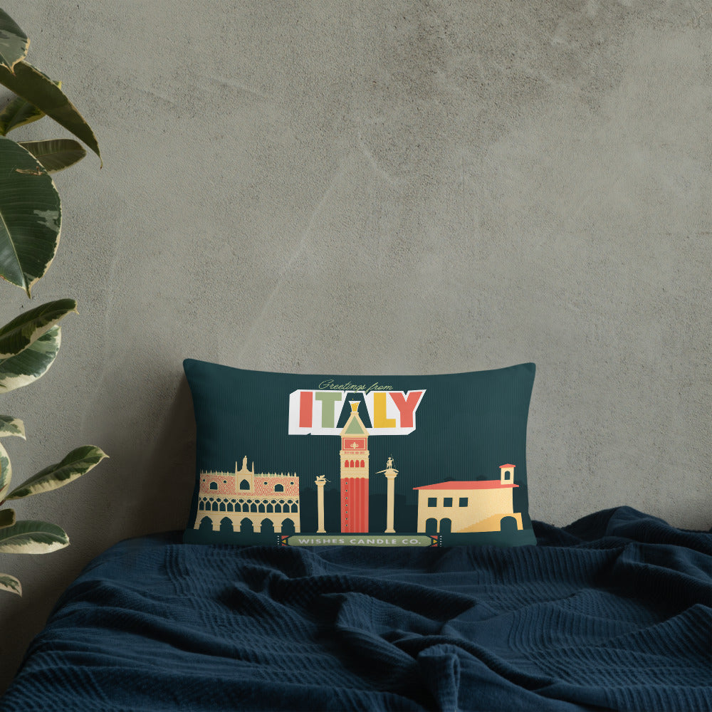 Greetings From - Italy! Throw Pillow