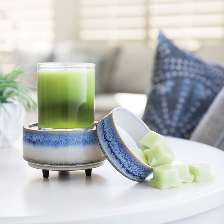 Sky Meets Sea 2 in 1 Candle and Tart Wax Warmer