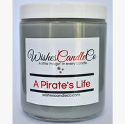 A Pirate's Life Candle With Free Pin Inside