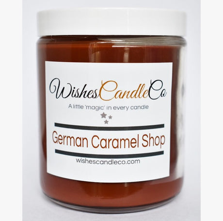 German Caramel Shop Candle With Free Pin Inside