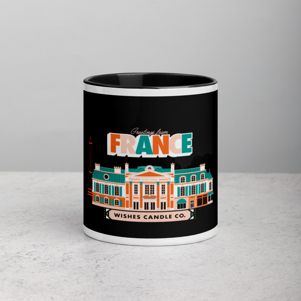 Greetings From - France! Color Block Mug