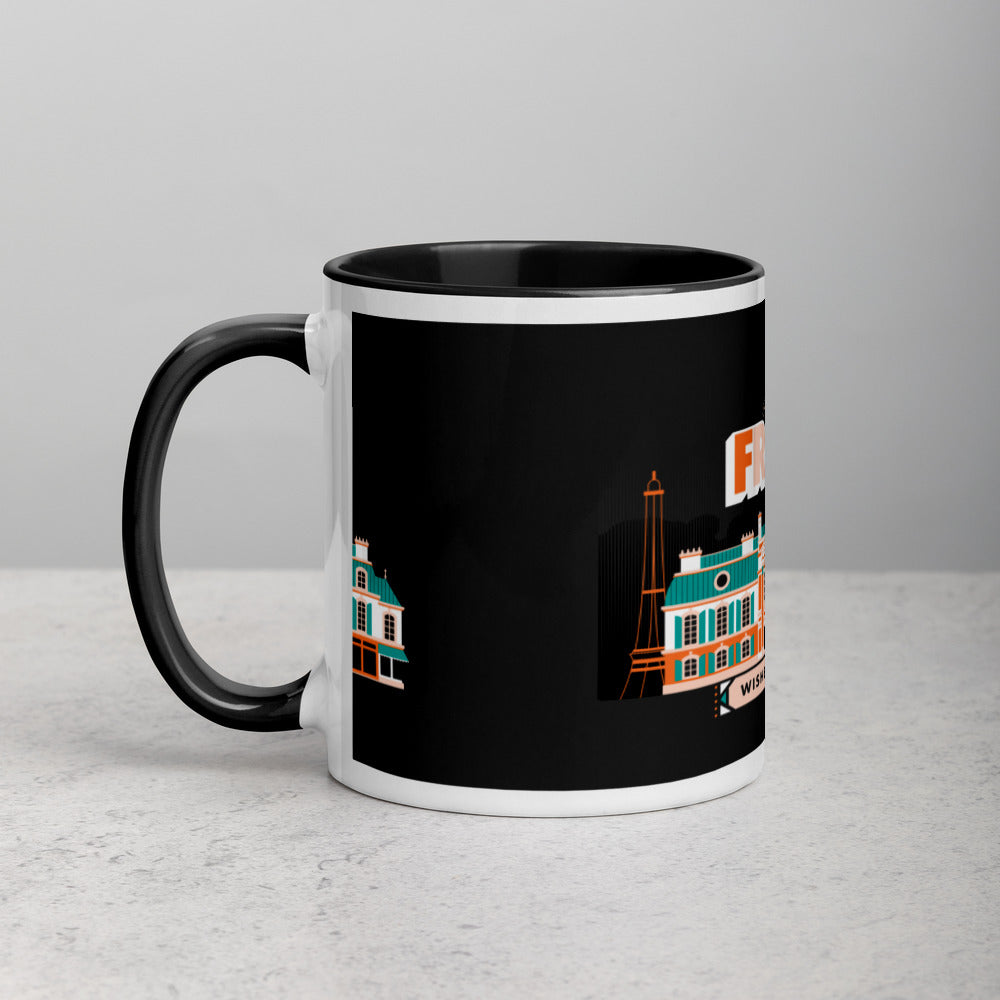 Load image into Gallery viewer, Greetings From - France! Color Block Mug