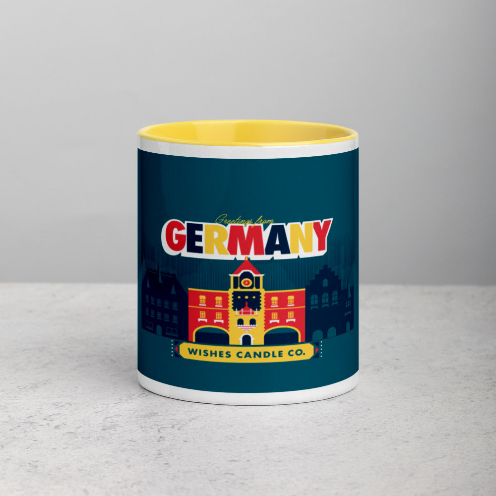 Greetings From - Germany! Color Block Mug