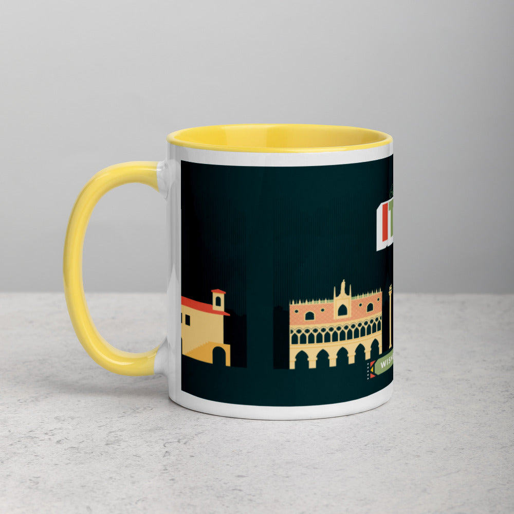 Load image into Gallery viewer, Greetings From - Italy! Color Block Mug