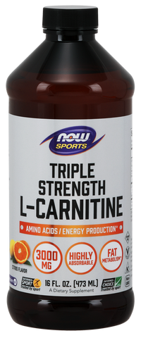 NOW Sports L-Carnitine Triple Strength Liquid 3000 mg - Citrus