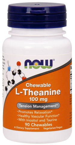 NOW L-Theanine 100 mg Chewables