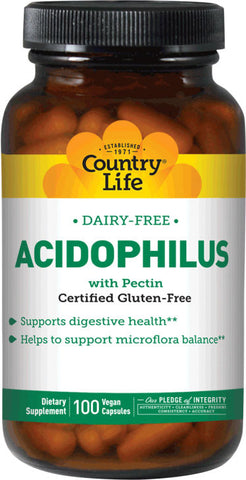 Country Life Dairy-Free Acidophilus with Pectin