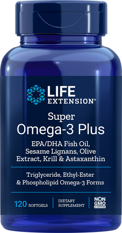 Life Extension Super Omega-3 Plus EPA/DHA Fish Oil, Sesame Lignans, Olive Extract, Krill & Astaxanthin
