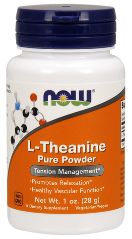 NOW L-Theanine Powder, Pure