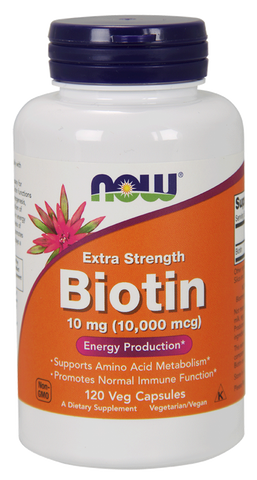 NOW Biotin 10 mg (10,000 mcg), Extra Strength