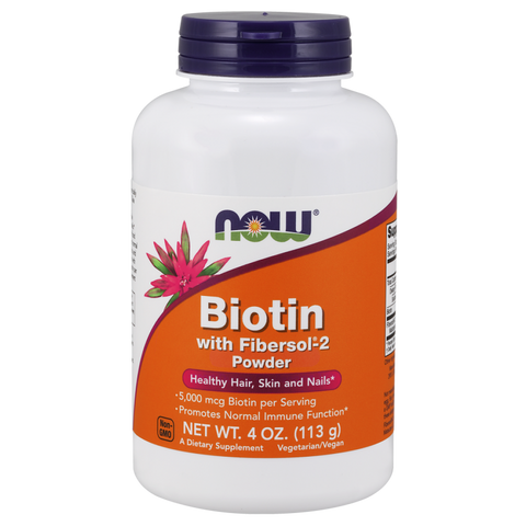 NOW Biotin with Fibersol-2 Powder