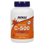 NOW Vitamin C-500 Chewable - Cherry-Berry