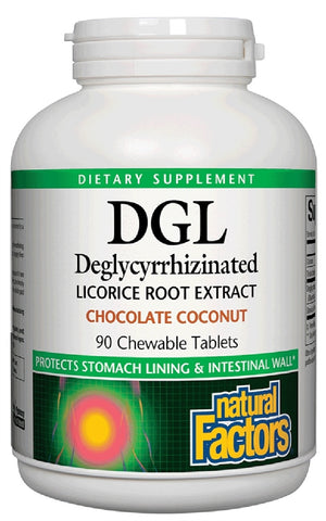 Natural Factors DGL Deglycyrrhizinated Licorice Root Extract - Chocolate Coconut