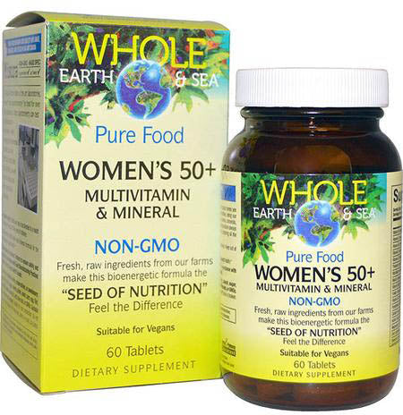 Natural Factors Whole Earth & Sea Women's 50+ Multivitamin & Mineral