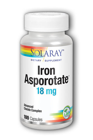 Solaray Iron Asporotate 18 mg