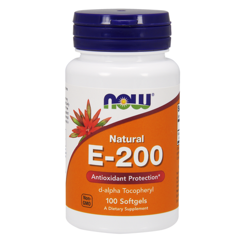 NOW Vitamin E-200 (Natural d-Alpha)