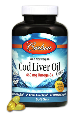 Carlson Wild Norwegian Cod Liver Oil (Lightly Lemon)