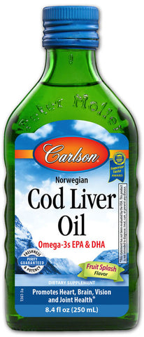 Carlson Wild Norwegian Cod Liver Oil - Fruit Splash