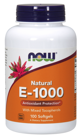 NOW Vitamin E-1000 IU Mixed Tocopherols