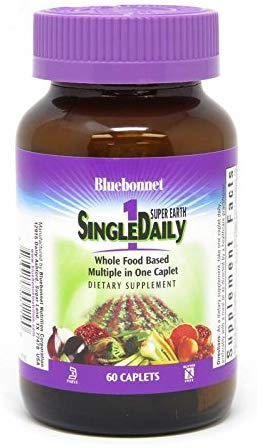 Bluebonnet Super Earth SingleDaily Whole Food Based Multiple (with Iron)