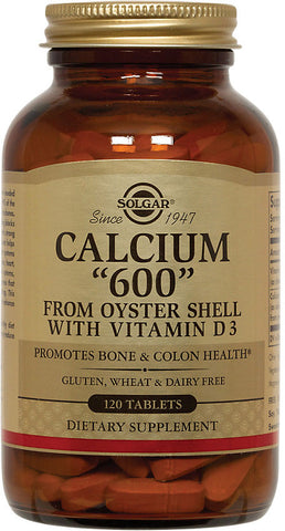 "Solgar Calcium ""600"" Tablets (from Oyster Shell with Vitamin D3)"
