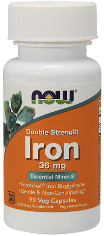 NOW Iron 36 mg Double Strength