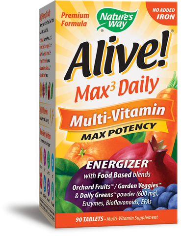 Nature's Way Alive! Whole Food Energizer Multi-Vitamin (No IRON Added)