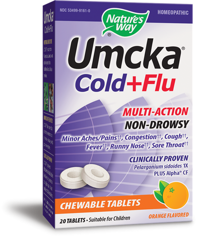 Nature's Way Umcka Cold & Flu Chewable - Orange