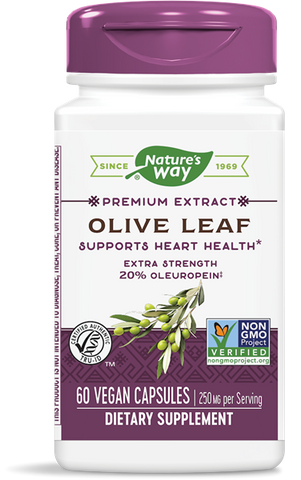 Nature's Way Olive Leaf Extract 20% Oleuropein (Standardized)