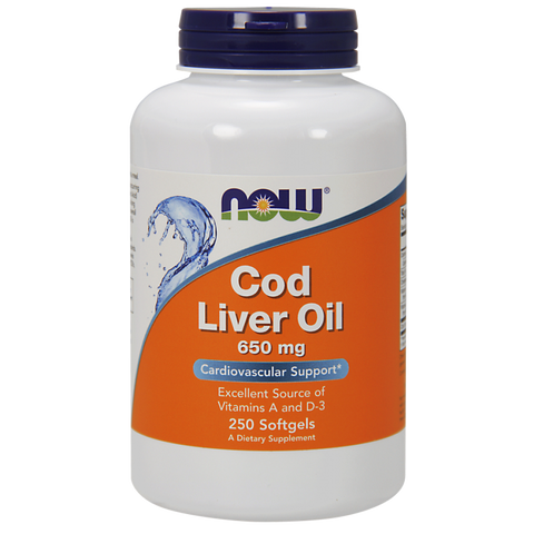 NOW Cod Liver Oil 650 mg Softgels