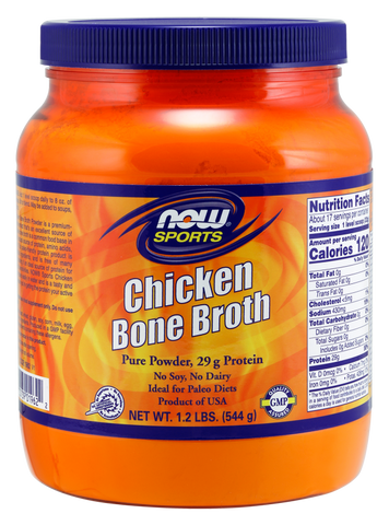 NOW Sports Bone Broth Chicken Powder