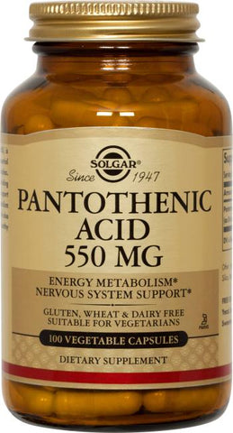 Solgar Pantothenic Acid 550 mg