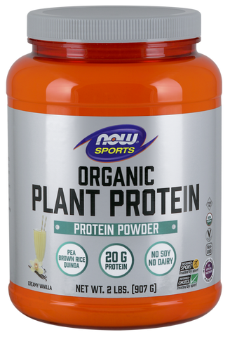 NOW Sports Plant Protein (Organic) - Natural Vanilla