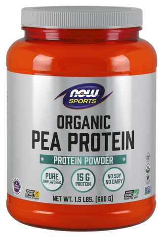 NOW Sports Pea Protein (Organic) Powder