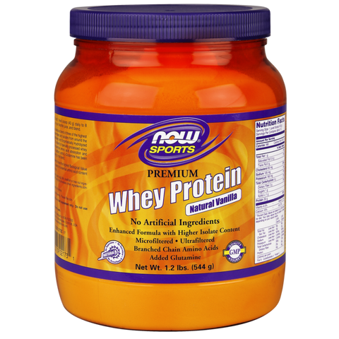 NOW Premium Whey Protein w/Glutamine - Natural Vanilla