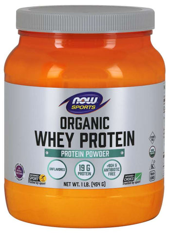 NOW Sports Organic Whey Protein - Unflavored