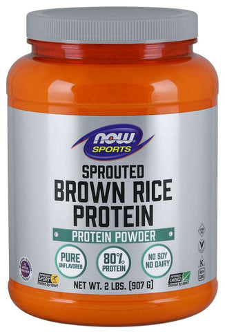 NOW Sports Sprouted Brown Rice Protein - Unflavored