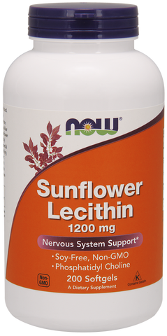 NOW Sunflower Lecithin 1200 mg Soy-Free, Non-GMO
