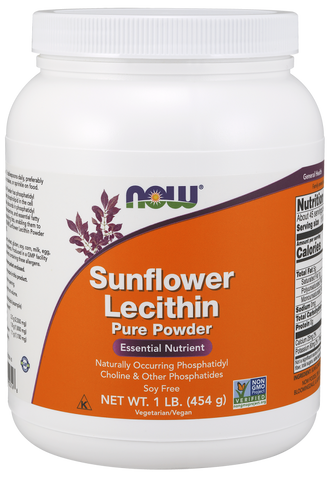 NOW Sunflower Lecithin Pure Powder