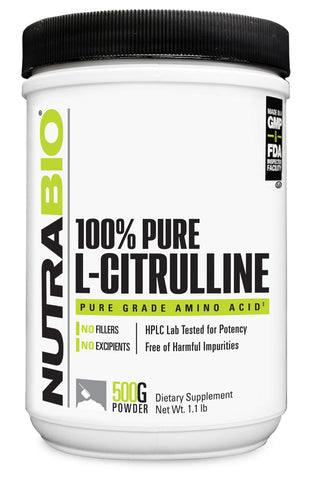 NutraBio 100% Pure L-Citrulline Powder