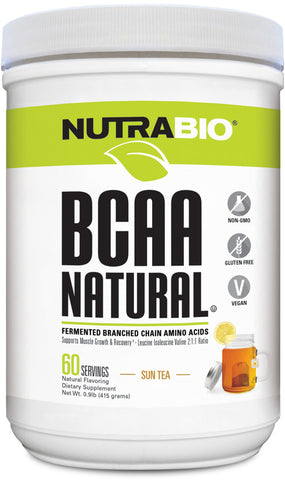 NutraBio BCAA Natural