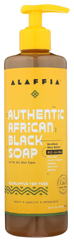 Alaffia Authentic African Black Soap All-in-One - Eucalyptus Tea Tree