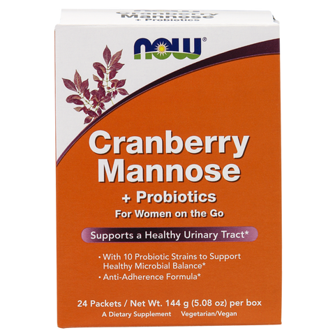 NOW Cranberry Mannose + Probiotics