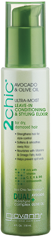 Giovanni 2chic Avocado & Olive Oil Ultra-Moist Leave-In Conditioning & Styling Elixir