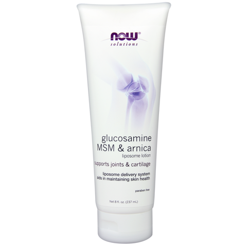 NOW Glucosamine, MSM, Arnica Lotion